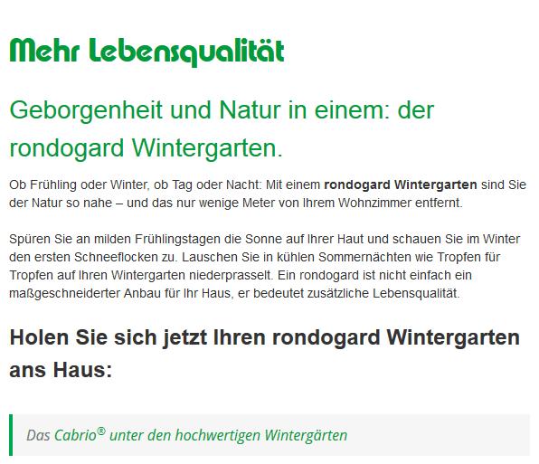 Geborgenheit und Nähe zur Natur: rondogard Terrassenüberdachungen in 98617 Utendorf - Wallbach, Walldorf und Kühndorf