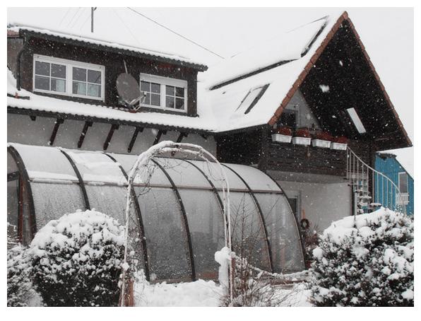 Wintergarten passgenau für das Haus aus  Aue