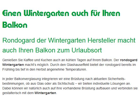 hochwertiger Wintergarten aus 95701 Pechbrunn