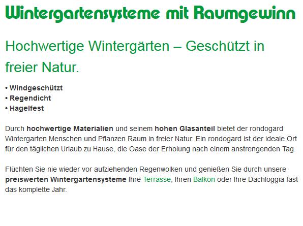 maßgeschneiderter Wintergarten