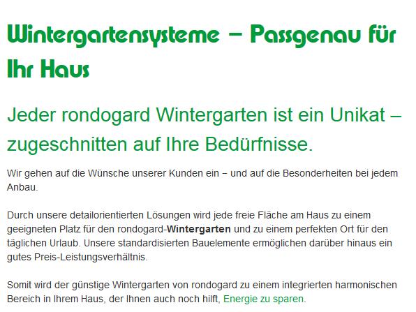 mehr Lebensqualität durch Wintergarten in 07338 Hohenwarte